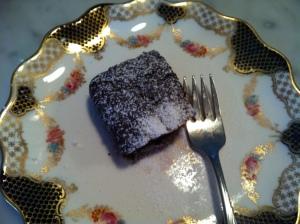 beet cake on plate