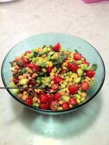 kym salad in bowl
