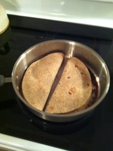 quesadillas in pan
