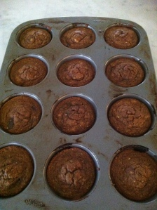 dancing muffins in pan