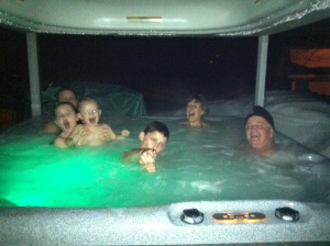 family day hot tub