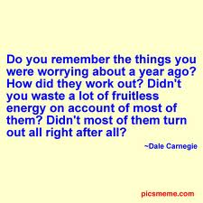 dale carnegie worry
