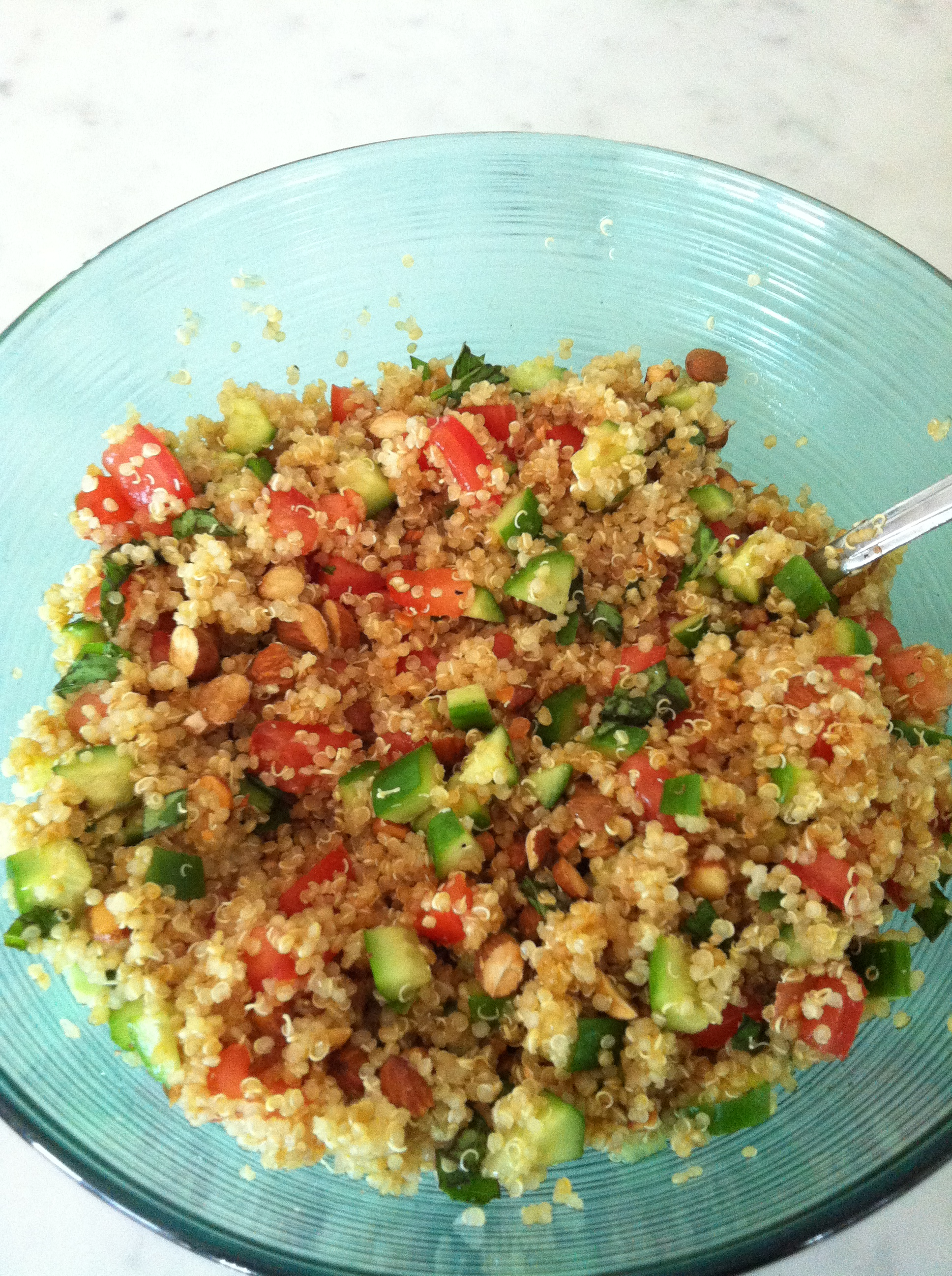 Warm Quinoa Salad with Toasted Almonds